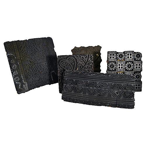 Indian Printing Blocks, 5 Pcs