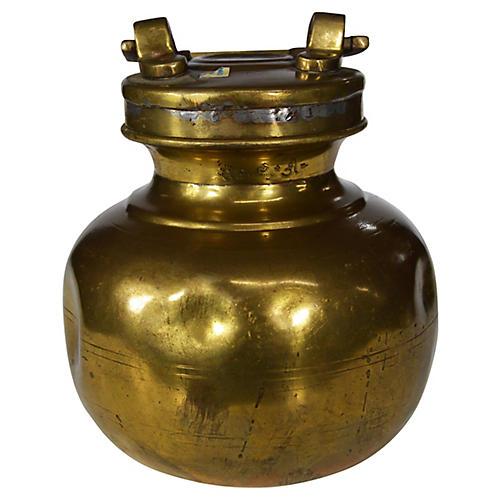 Brass Milk Jar