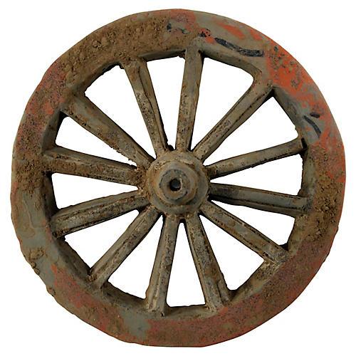 Antique Chinese Terracotta Wheel
