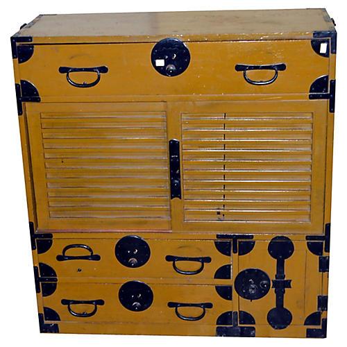 Antique Japanese Merchant's Dresser