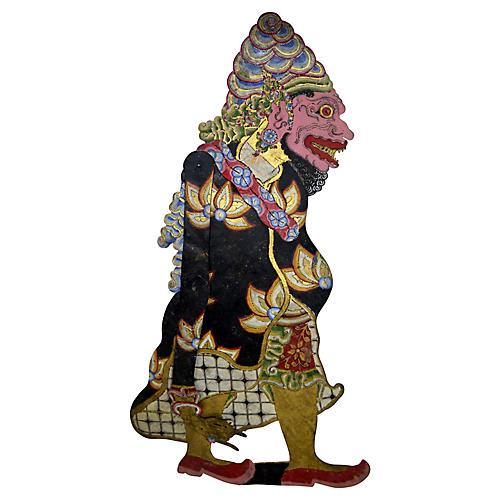 Antique Wayang Kulit Shadow Puppet