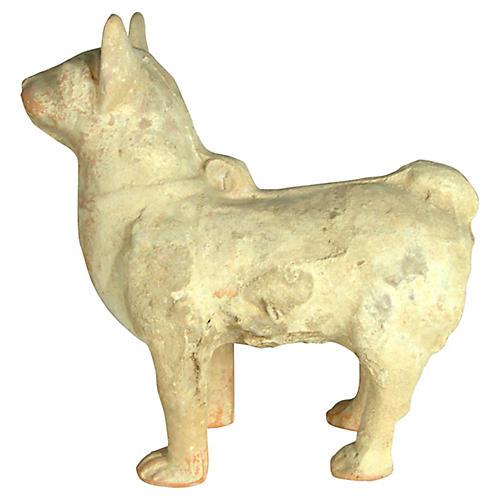 Antique Terracotta Dog