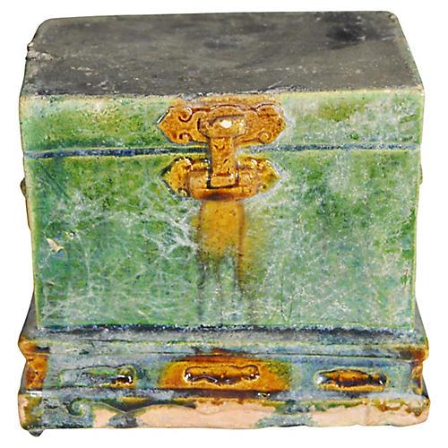 Antique Miniature Treasure Chest