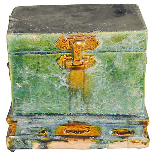 Antique Miniature Treasure Chest