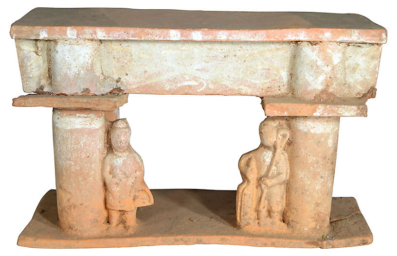 Antique Chinese Terracotta Town Gate