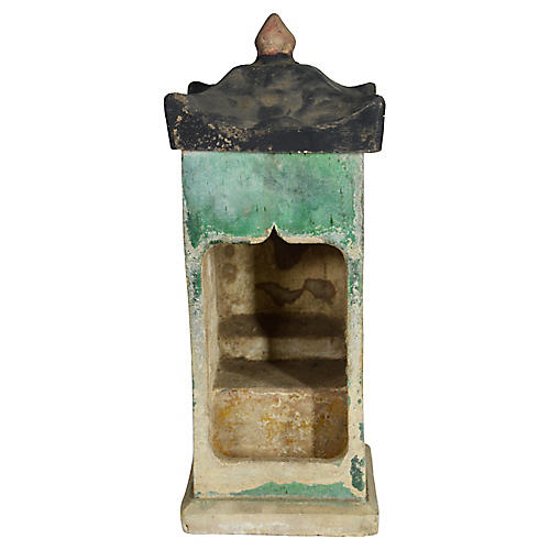 Antique Chinese Glazed Terracotta Shrine