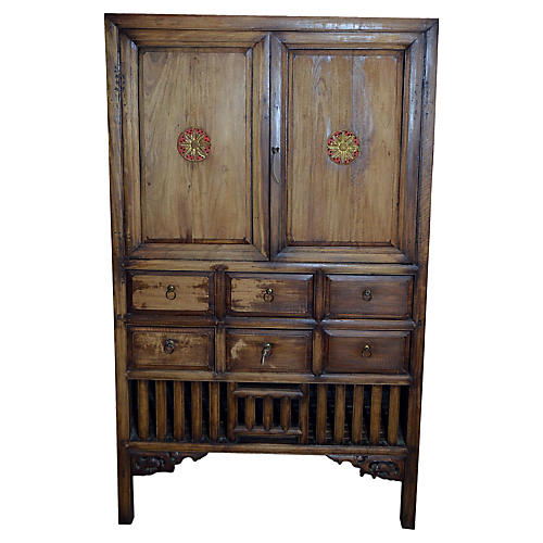Antique Hand-Carved Armoire