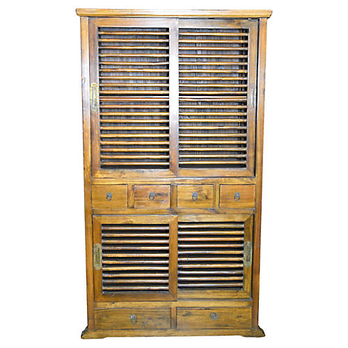 Antique Indonesian Colonial Armoire