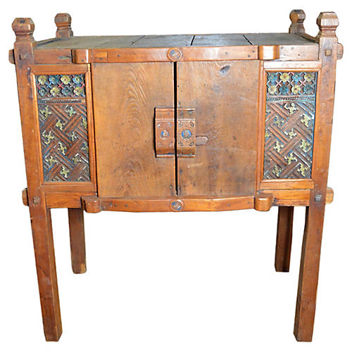 Antique Indonesian Hand-Carved Cabinet