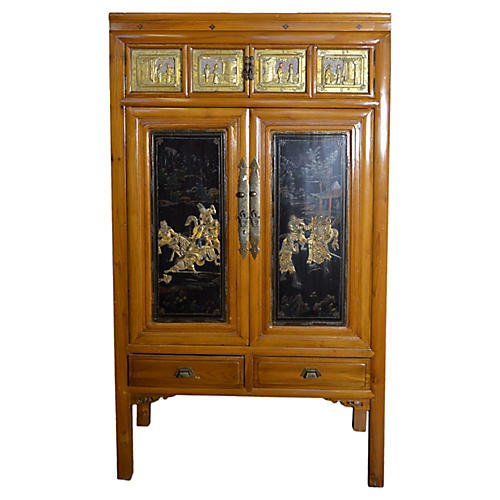 Antique Chinese Armoire w/ Medallions