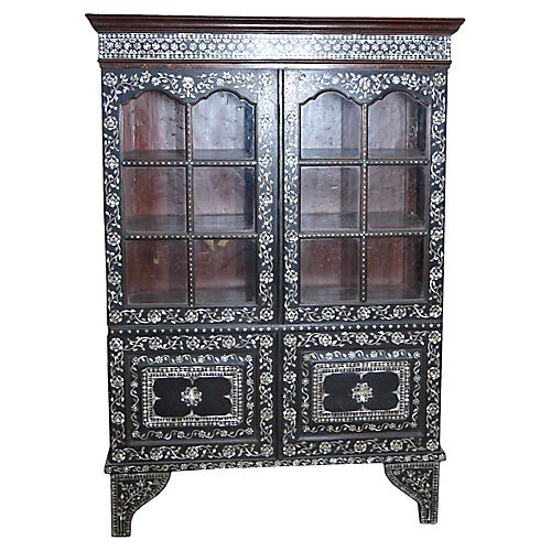 Antique Indian Mother-of-Pearl Armoire