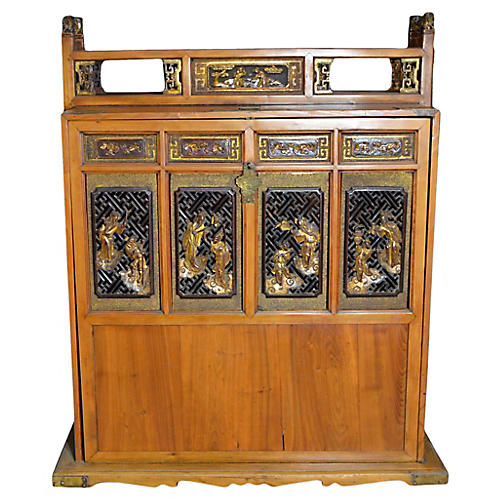 Antique Chinese Travel Palanquin