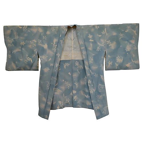 Japanese Sky Blue Haori Kimono