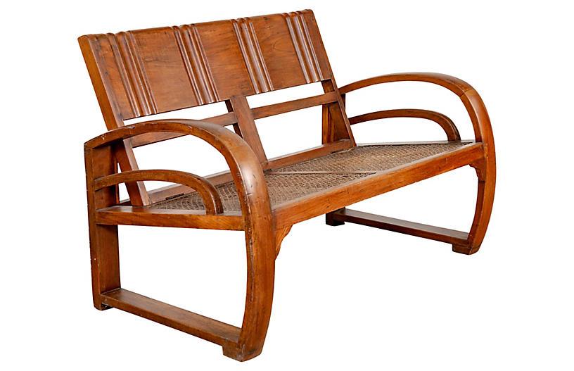 Teak Wood Folding Settee from Madura