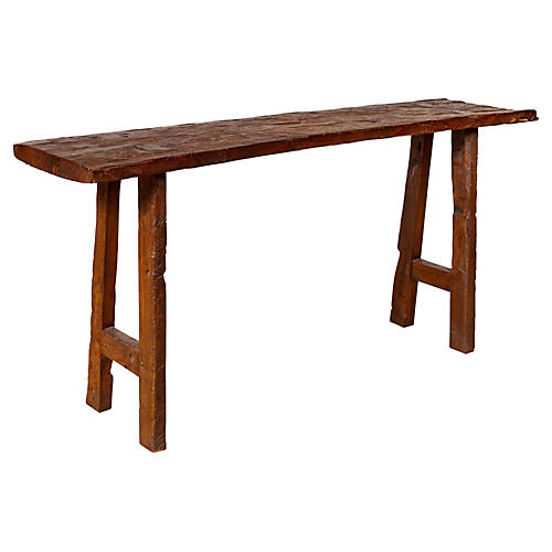 Rustic Antique Indonesian Console Table