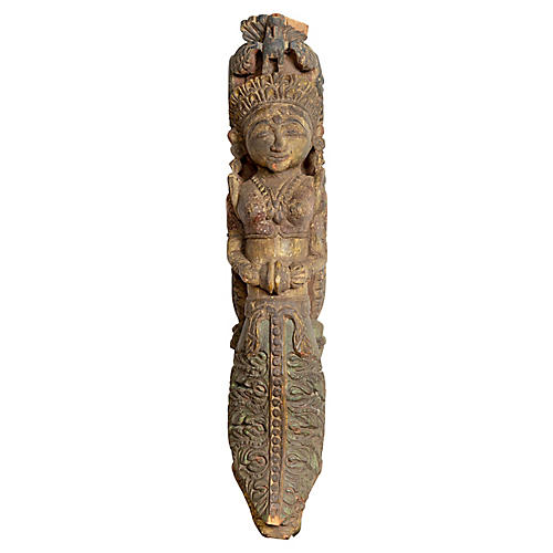Indian Carved Celestial Musician Statue