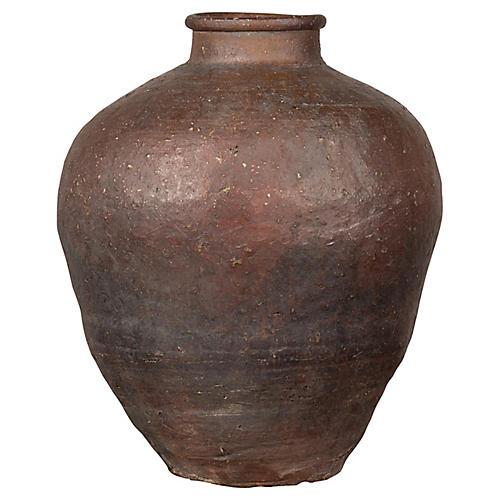 19th Century Chinese Grain Storage Urn