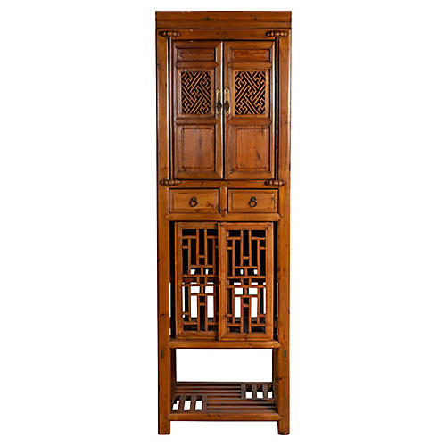 Antique Chinese Slender Kitchen Cabinet