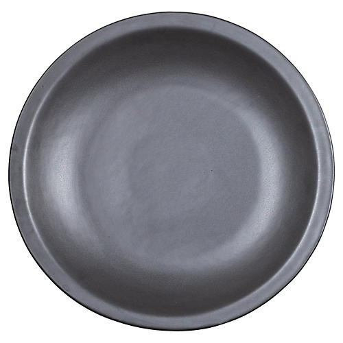 Chinese Cobalt Grey Ceramic Charger