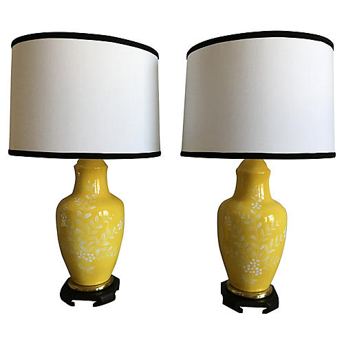 Frederick Cooper Lamps w/Shades, Pair