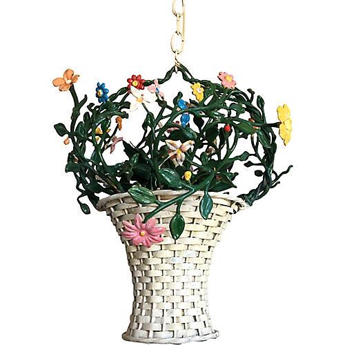Italian Flower Basket Chandelier