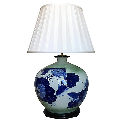 Oversize Asian Lamp & Shade