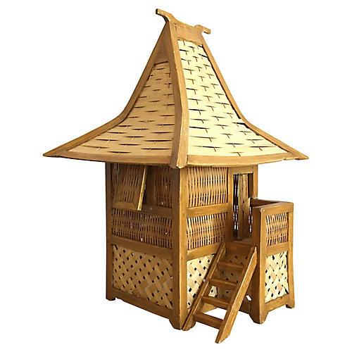 Balinese Wicker Hut Lamp