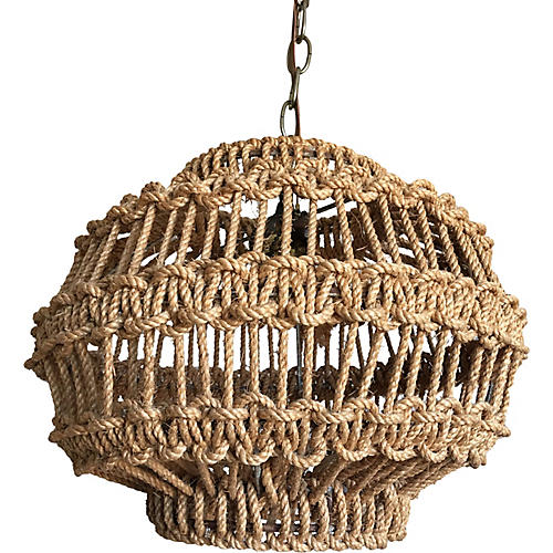 Macrame Rope Pendant Light