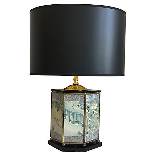 Midcentury Tea Canister Lamp & Shades