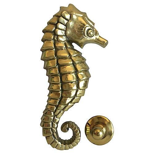 Midcentury Seahorse Door Knocker