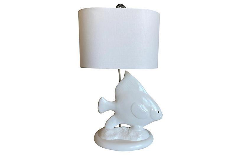Angel Fish Lamp w/ Shade