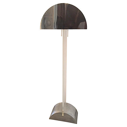George Kovacs Lucite/Chrome Floor Lamp