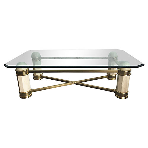Stone & Brass Coffee Table