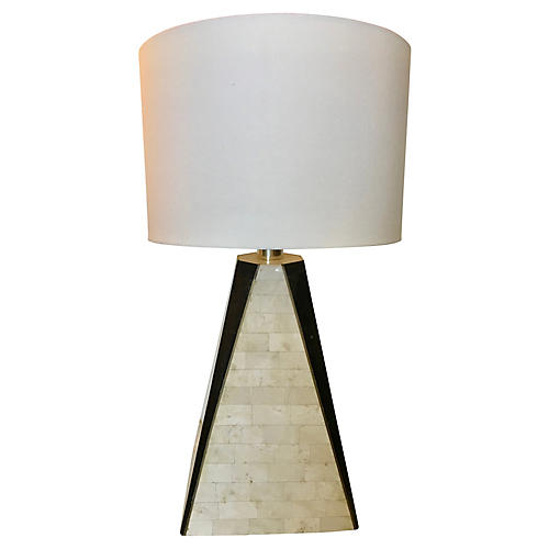 Maitland Smith Tesselated Stone Lamp