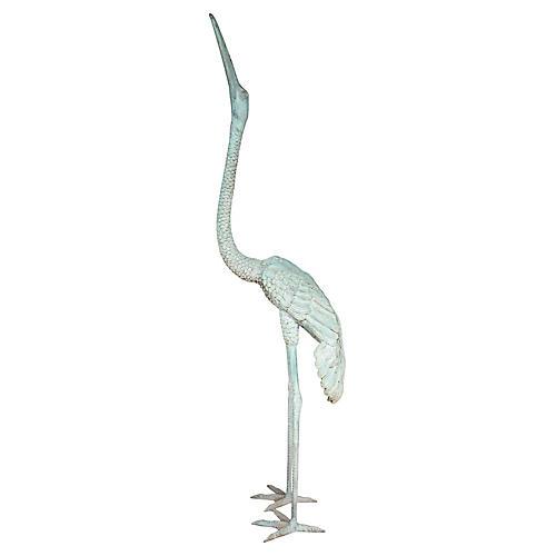 Bronze Egret Sculpture