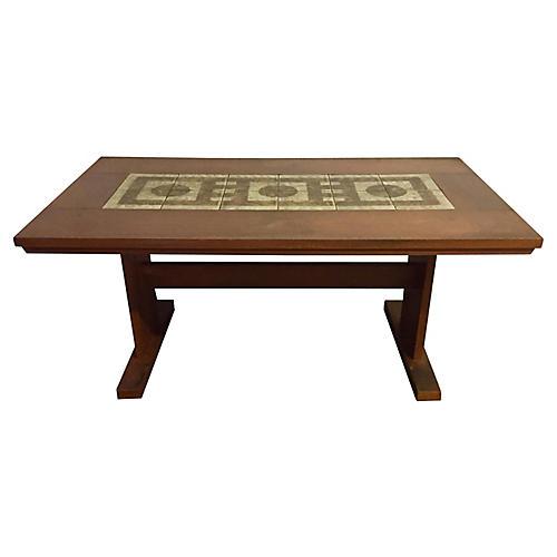 1970s Danish Tile-Top Table