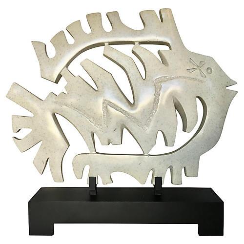 Large Resin Bonefish Sculpture