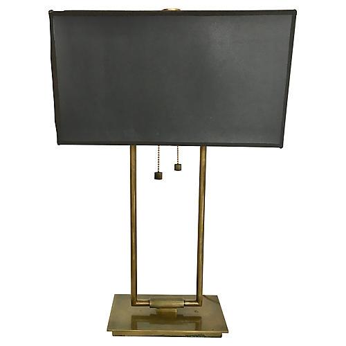 Goldtone Desk Lamp w/ Shade