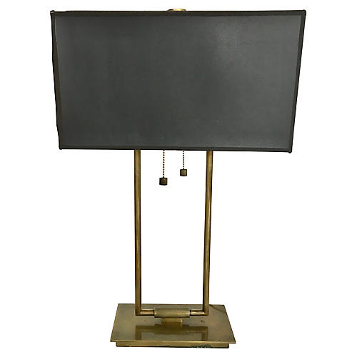 Goldtone Desk Lamp w/ Shade