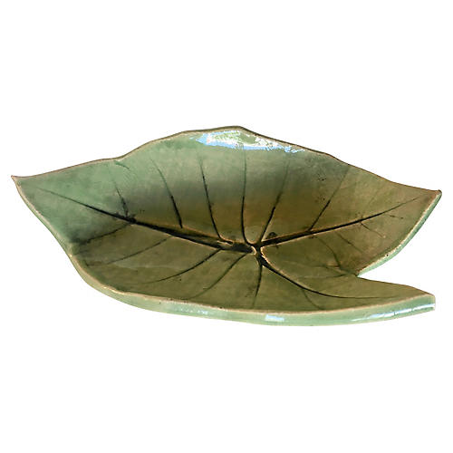 Studio Pottery Leaf Earring Catchall