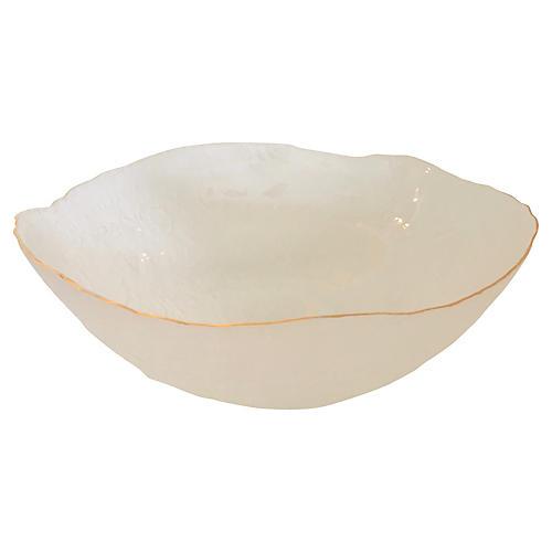 Lalique-Style Sea Life Bowl