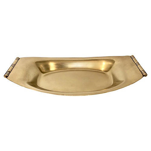 T. Parzinger Deco-Style Brass Catchall