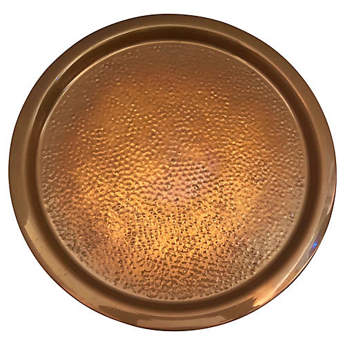 Round Copper Tray By Coppercraft Guild