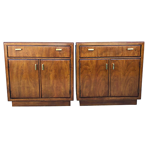 Drexel Nightstands, S/2