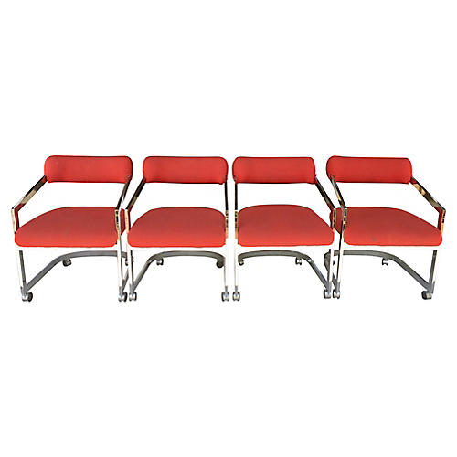 DIA Chairs on Casters, S/4