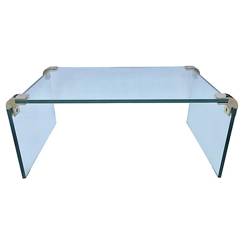 Floating Glass Side Table by Pace