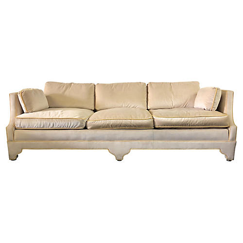 Hollywood Regency-Style Sofa by Heritage