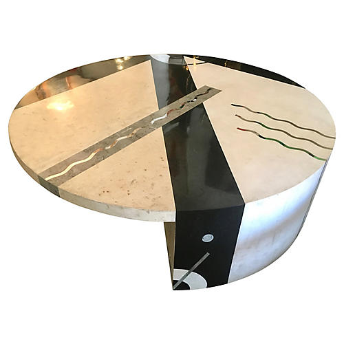 Oggetti Marble & Chrome Coffee Table