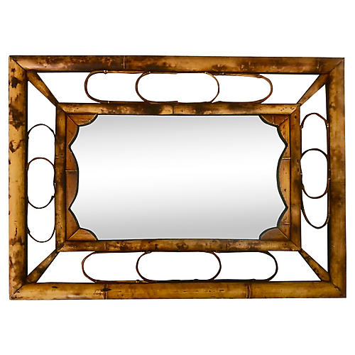 1940s Bamboo Mirror