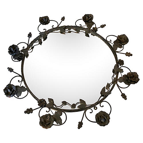 Black Iron Rose Mirror